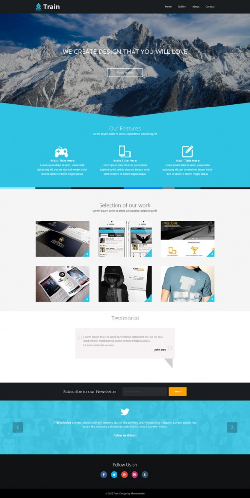 Train-Landing-page-template